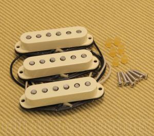 099-2117-000 Genuine Fender Original 57/62 White Stratocaster Strat Pickups Set 0992117000