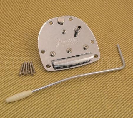 005-4466-000 Fender Chrome Jaguar Jazzmaster Vibrato Tremolo Tailpiece & Arm 0054466000