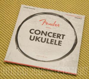 073-0090-403 Fender Clear Nylon Tie-End Concert Ukulele Strings GCEA 0730090403