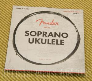 073-0090-402 Fender Clear Nylon Tie-End Soprano Ukulele Strings ADF#B 0730090402