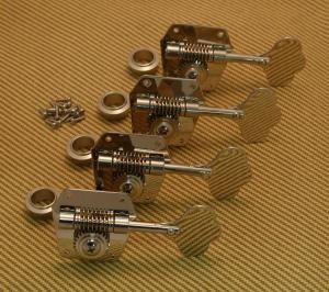 Machines for Mustang Bass Genuine Fender Nickel GB-1 Gotoh Tuner Keys Set