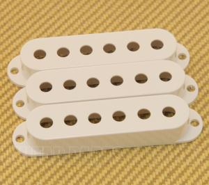 099-2034-000 Three White Fender Strat/Stratocaster Guitar Pickup Covers 0992034000