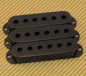 099-1364-000 (3) Genuine Fender Black Stratocaster/Strat Pickup Covers 0991364000