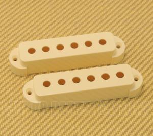 005-4492-049 Genuine Fender Jaguar Aged White Guitar Pickup Cover Set 0054492049
