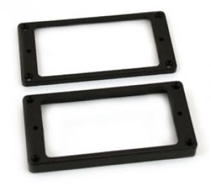 PC-0745-023 Flat Bottom Black Humbucker Pickup Rings