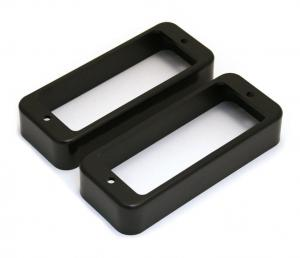 PC-0747-023 Black Mini Humbucker Pickup Rings for Gibson Les Paul Deluxe
