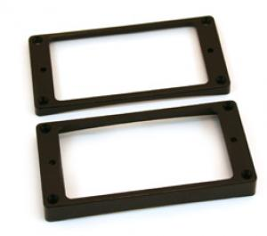 PC-0733-023 Black Curved Bottom Humbucker Pickup Rings
