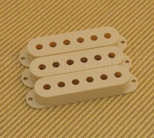 PC-0406-048 3 Vintage Cream Pickup Covers for Fender Stratocaster Guitar