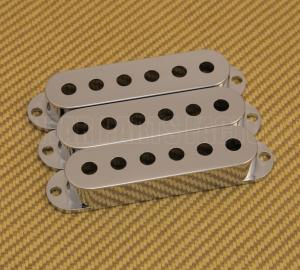PC-0406-010 (3) Chrome Plastic Pickup Covers for Fender Stratocaster/Strat