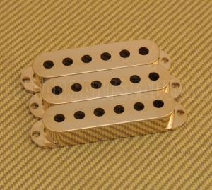 PC-0406-002 Set of 3 Gold Pickup Stratocaster Covers For American Strat Guitar