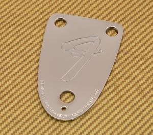 005-5259-000 Fender Bass 3 Bolt Logo 75' Reissue Neck Plate 0055259000