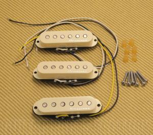 099-2105-000 Fender Hot Noiseless Stratocaster/Strat Pickup Set Aged White 0992105000