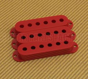PC-0406-026 (3) Red Pickup Covers for Fender Stratocaster/Strat