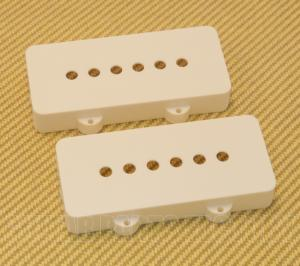PC-6400-025 Pickup Cover Set for Fender Jazzmaster Guitar White Nylon