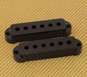PC-6405-023 2 Black Pickup Covers for Vintage/USA Fender Jaguar Guitar