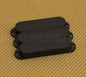 PC-0446-023 (3) Black No-Hole Single Coil Guitar Pickup Covers Strat/Mustang Bass