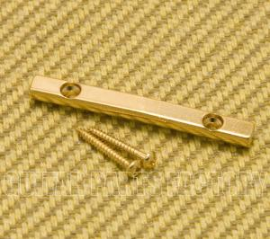 10197-G Gold Peghead-Mount Bar String Retainer Guitar or Bass