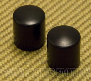 MK-002-B (2) Black Aluminum Barrel Knobs for 6mm Split Shaft Pots Guitar/Bass