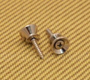 AP-0670-001 (2) Gotoh Nickel Strap Buttons/Screws For Fender Guitar or Bass