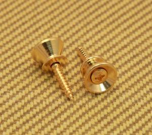 AP-0670-002 (2) Gotoh Gold Strap Buttons/Screws For Fender® Guitar & Bass