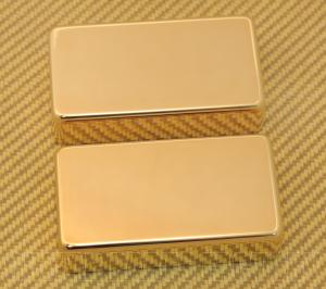 PC-0307-002 Gold No Holes Humbucker Pickup Covers PAF Style