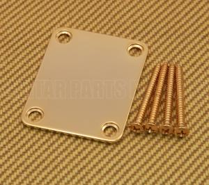 099-1447-200 Genuine Fender Gold Plain Vintage Style Guitar/Bass Neck Plate 0991447200