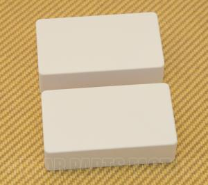 PC-0303-025 White No Holes Humbucker Pickup Covers