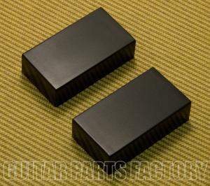 PC-0303-B (2) Black Closed Guitar Humbucker No Holes Pickup Cover Set