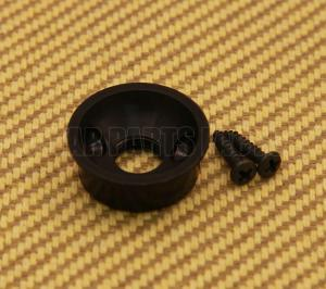 AP-5270-003 Black Electrosocket Guitar or Bass Jack Plate