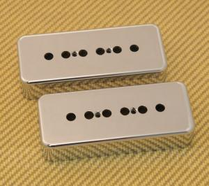 PC-0746-010 (2) 50mm Chrome Plastic Soapbar P90 Guitar Pickup Covers