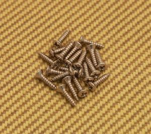 GS-0001-001 (20) Nickel Finish Pickguard Screws For Fender Guitar/Bass