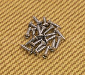 GS-0001-010 20 Chrome Pickguard Screws for Fender Guitar