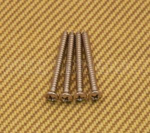 GS-0005-001 (4) Nickel Neck Plate Screws #8 x 1-3/4""