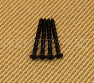 GS-0005-003 (4) Black Neck Plate Screws #8 x 1-3/4""