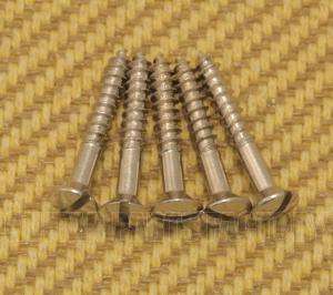 001-8371-049 (5) Fender 6X1 Slotted '52 Style Bridge & Strap Button Mounting Screws