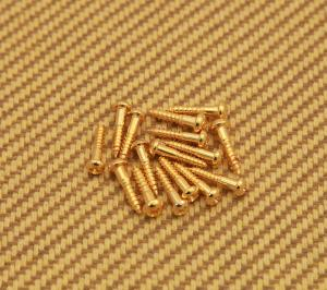 GS-0006-002 16 Tuner Machine Head Mounting Screws Half Inch - Gold Guitar Or Bass
