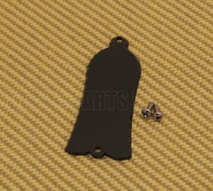 TC-BS1 1-Ply Black Bell-Shaped Guitar/Bass Truss Rod Cover w/Screws