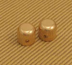099-2056-200 Genuine Fender Gold Original Guitar Dome Knobs for P Bass or Telecaster 0992056200