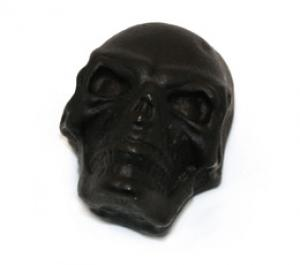 MK-3335-003 Black Satin Split Shaft Press-On Skull Knob