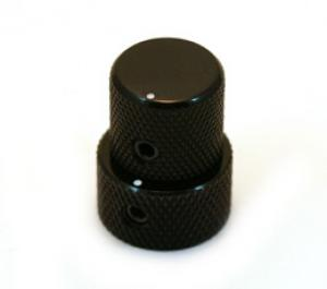 MK-3320-003 Mini Black Stacked Knob for Bartolini Duncan & EMG