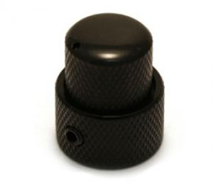 Black Full Size Stacked Guitar//Bass Knob for 6mm//8mm Shaft MK-STK-B 1