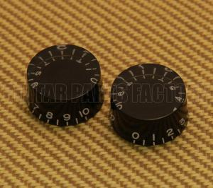 PK-0130-023 2 Black Speed Knobs For Gibson USA and CTS Split Shaft Pots