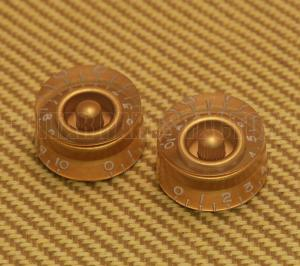 PK-0130-032 (2) Gold Speed Knob Set Guitar/Bass 1-10