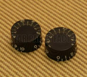 PK-0134-023 (2) Aged Black Speed Knobs USA Guitars