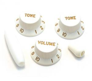 PK-0178-025 White Knob Set For Strat Guitar