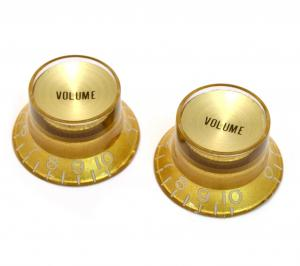 PK-0184-032 Reflector Volume Knobs Gold/Gold