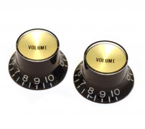PK-3294-023 Reflector Volume Knobs Black/Gold
