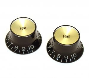 PK-3292-023 Reflector Tone Knobs Black/Gold