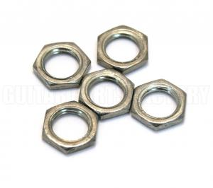 EP-0968-000 (5) Guitar/Bass Pot Nuts for Most Metric Pots