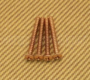 001-8785-049 4 Genuine Fender Gold Neck Mounting Screws 8 inch by 1 and three forths 0018785049